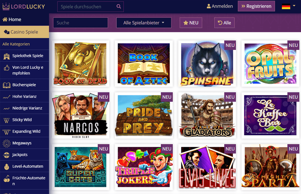 Lord Lucky Casino Slots