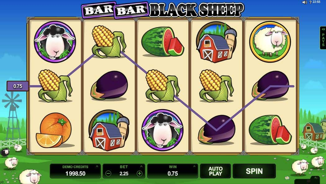 Screenshot Bar Bar Black Sheep - 5 Reel Screenshot