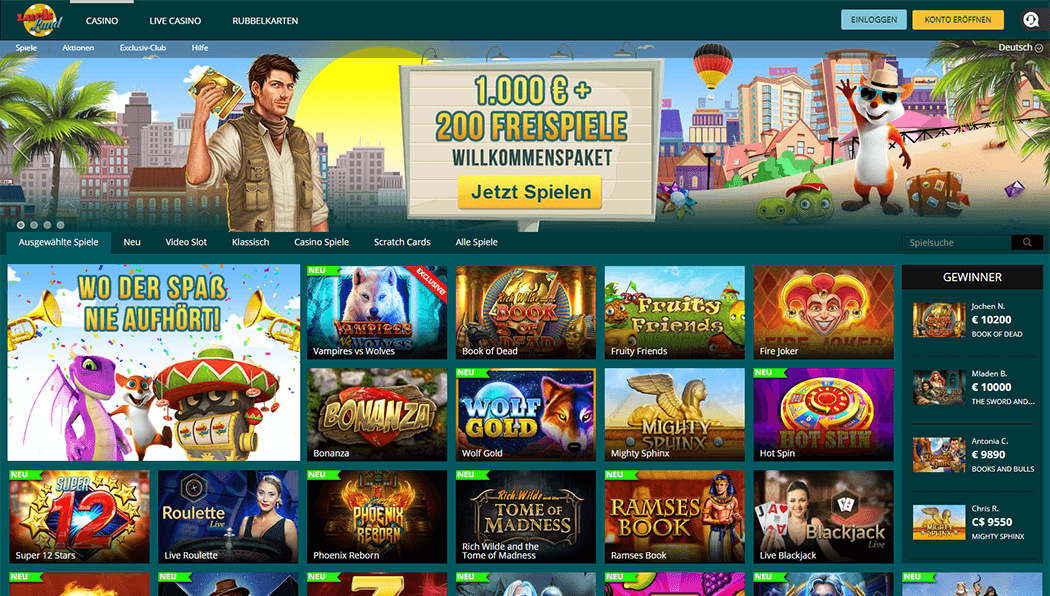 Die Luckland Casino Plattform