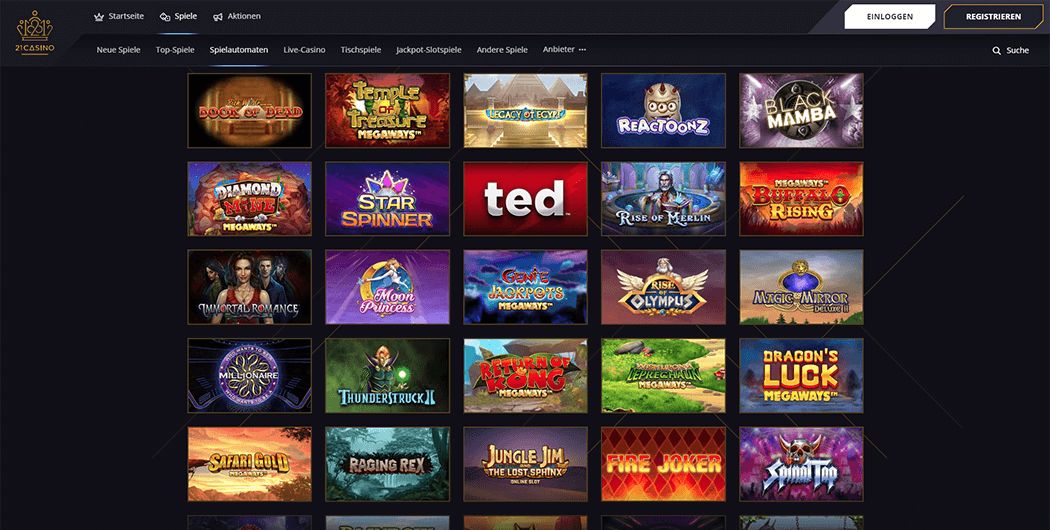 21Casino Slot Games