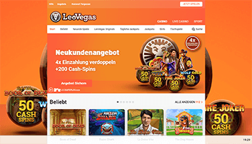 Screenshot LeoVegas CTA